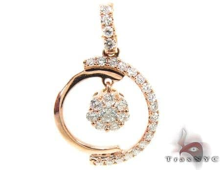Rose Gold New Moon Pendant Stone