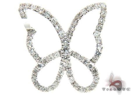 Diamond Butterfly Pendant 17837 Stone