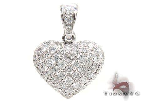 Mini Heart Pendant 17856 Stone