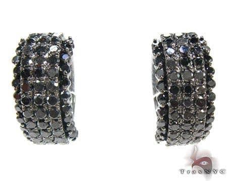 Black Night Earrings 2 Stone