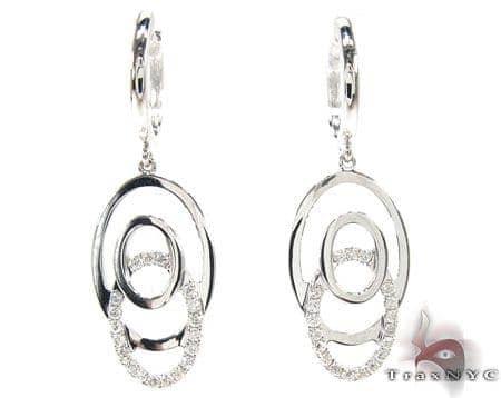 Circles Dangle Earrings 2 Stone