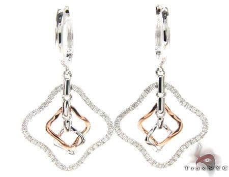Two Tone Charm Earrings Stone
