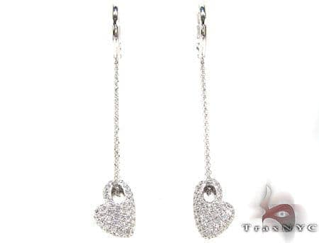 Hanging Hearts Earrings Stone