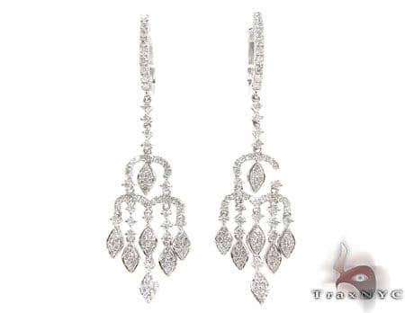 Raindrop Chandelier Earrings Stone