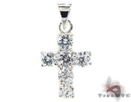 CZ Small Cross Crucifix Pendant Style