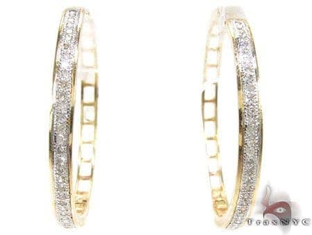 Yellow Gold Circus Hoops 3 Stone