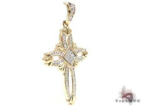 Yellow Gold Regal Cross Crucifix Diamond