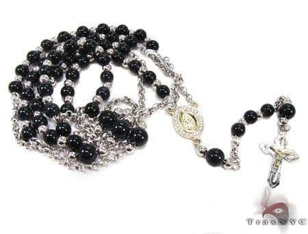 Diamond & Gold Rosary Chain and Cross Crucifix Rosary