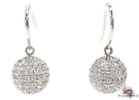 Discoball Earrings Stone