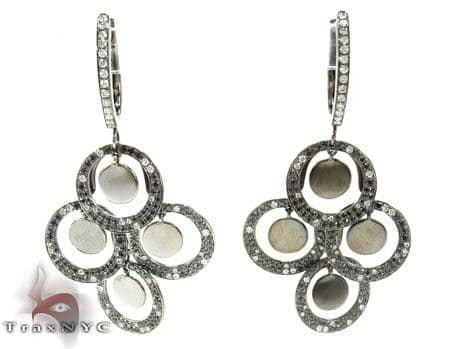 Round Charm Earrings Stone