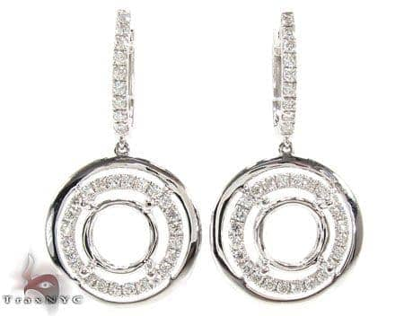VS Saucer Semi Mount Earrings Stone