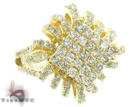Yellow Gold Sunshine Ring Anniversary/Fashion