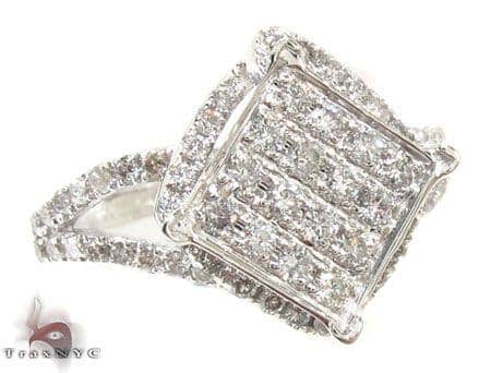 White Gold Pageant Ring Anniversary/Fashion