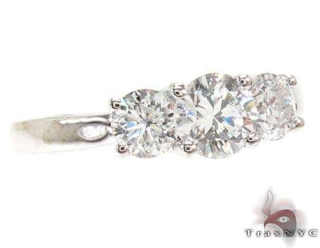 Tri-Solitaire Engagement Band 18763 Engagement