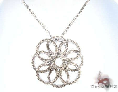 Twisted Flower Necklace Stone