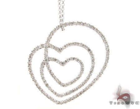 Swirl Heart Necklace 18904 Stone