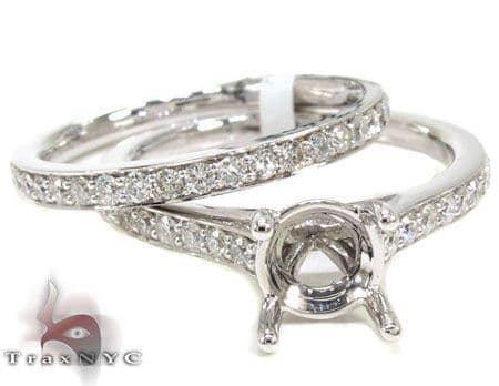 Ladies Semi Mount Ring Set 19016 Engagement