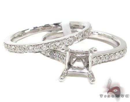 Ladies Semi Mount Ring Set 19017 Engagement