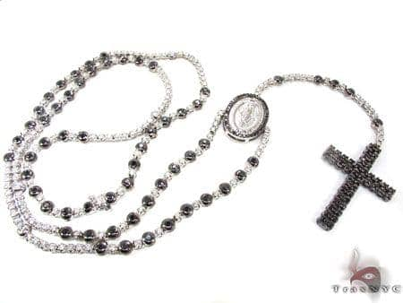 Black and White Gold Diamond Rosary Rosary