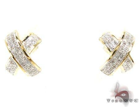 Ladies Diamond Earrings 19049 Stone
