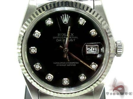 Rolex Datejust Steel & White Gold Watch 178274 Diamond Rolex Watch Collection