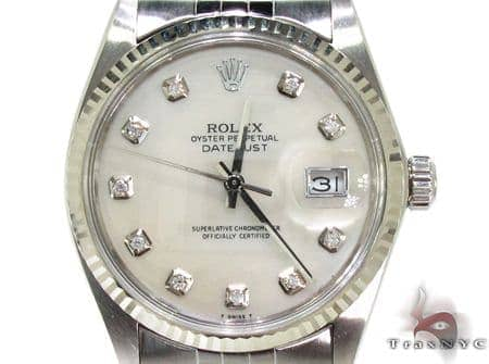 Rolex Datejust Steel and White Gold 178274