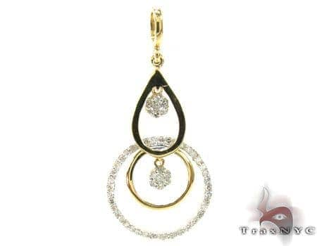 Ladies Diamond Pendant 19506 Stone