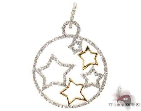 Ladies Star Way Pendant 2 Stone