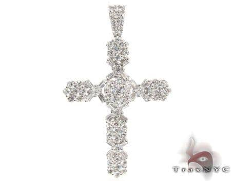 Diamond Cross Crucifix Pendant 19527 Diamond