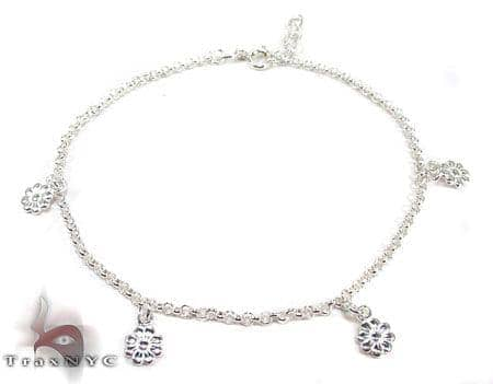 Ladies Silver Charm Bracelet 19612 Silver & Stainless Steel