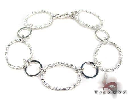 Ladies Silver Bracelet 19620 Silver & Stainless Steel