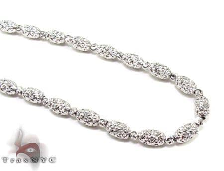 Moon Cut Beads Chain 23.5 Inches 4mm 16.3 Grams Gold