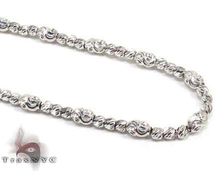Thin Moon Cut Chain 18 Inches 2mm 9.7 Grams Gold