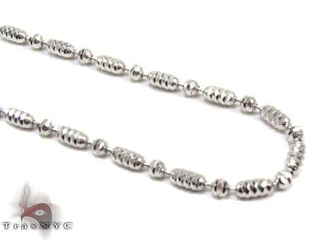 Tiny Moon Cut Chain 16 Inches 2mm 7.4 Grams Gold