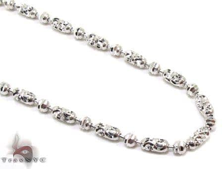 Thin Moon Cut Chain 18 Inches 2mm 6.1 Grams Gold