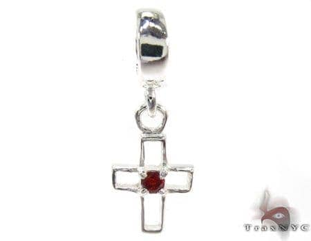 Small CZ Sterling Silver Cross Crucifix Style