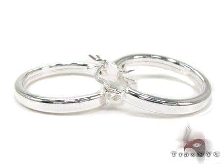 Small Sterling Silver Hoops 20028 Metal
