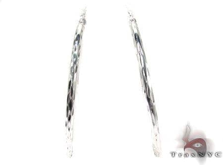 Sterling Silver Hoop Earrings 20029 Metal