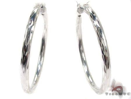 Sterling Silver Hoop Earrings 20032 Metal