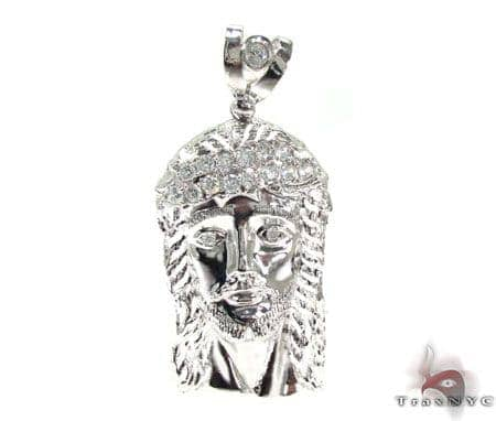 Silver Jesus Pendant 20185 Metal
