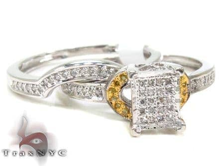 Ladies Diamond Ring Set 20465 Engagement