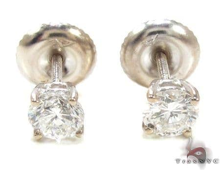 Mens Ladies Diamond Stud Earrings 20556 Style