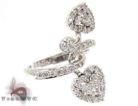 Ladies Double Heart Diamond Ring 20676 Anniversary/Fashion