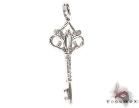 Ladies Diamond Key Pendant 20771 Style
