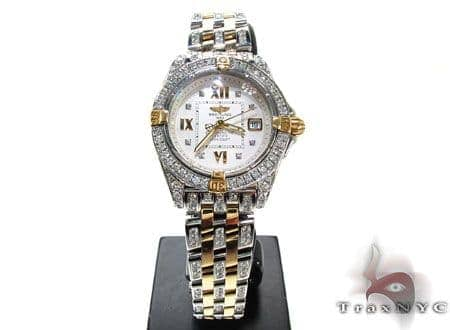 Ladies Diamond Breitling Windrider Cockpit Watch Breitling