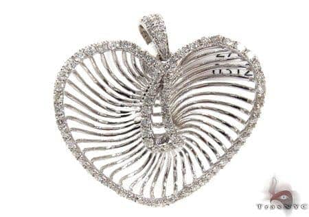 Ladies White Gold Diamond Heart Pendant 20844 Style