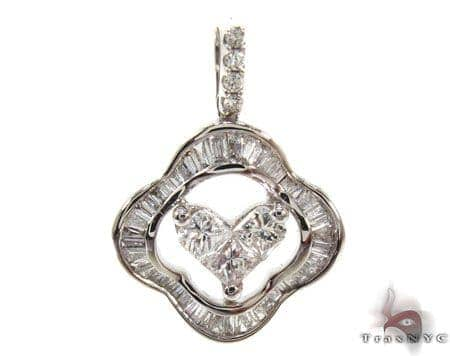 Ladies White Gold Diamond Heart Pendant 20869 Style