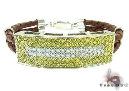 Mens Two Color Diamond Bracelet 21022 Diamond