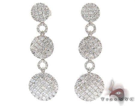 Ladies White Gold Diamond Chandelier Earrings 21149 Stone