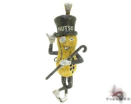 Mr.Peanut Diamond Pendant 21164 Metal